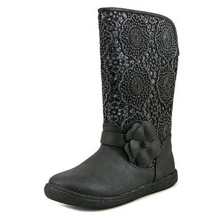 Nina Angelyna Round Toe Canvas Mid Calf Boot
