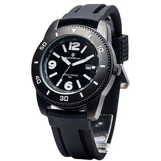 Smith & Wesson Paratrooper Watch Date Display Rubber Strap 45mm 3ATM - Black