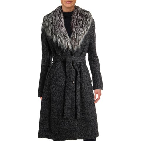 Ivanka Trump Womens Coat Winter Boucle