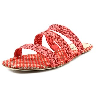 Via Spiga Ilaria Open Toe Leather Slides Sandal