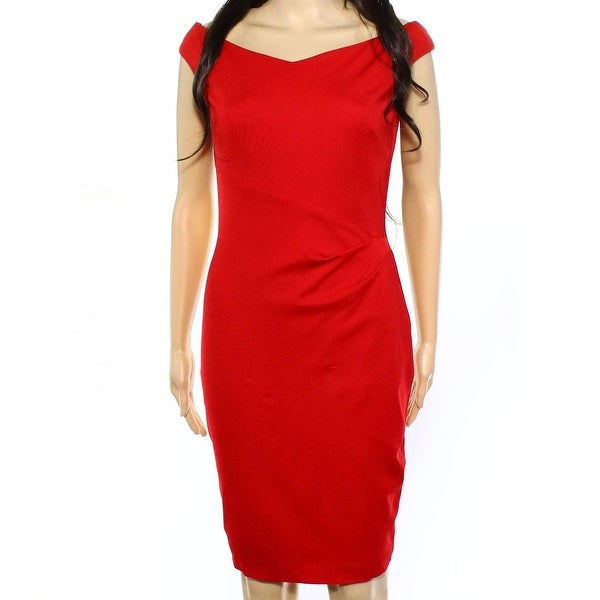 18ae4b3236d Shop Lauren Ralph Lauren NEW Orient Red Womens Size 2 Seamed Sheath ...