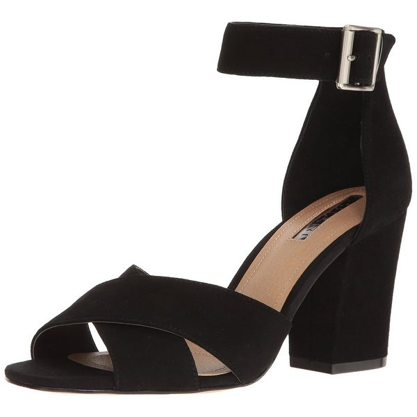 Tahari Womens Ta-Ponder Leather Open Toe Casual Ankle Strap Sandals
