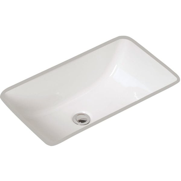 "Mansfield 218NS Petite Covington 21-3/8"" Vitreous China Undermount Bathroom Sink with Overflow - White"