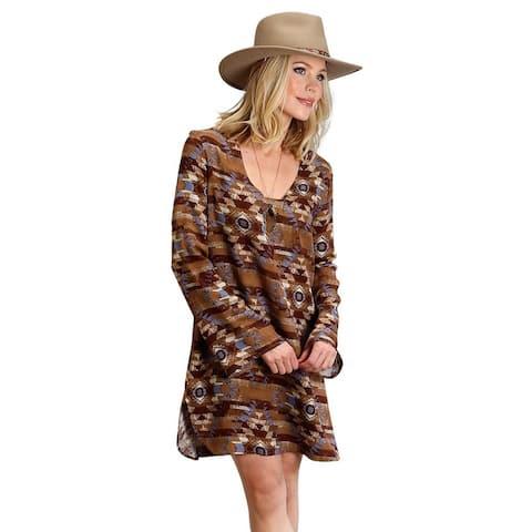 Stetson Western Dress Womens L/S Blanket Print
