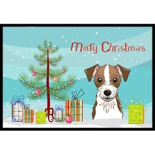 Carolines Treasures BB1574MAT Christmas Tree & Jack Russell Terrier Indoor or Outdoor Mat 18 x 27