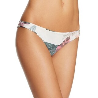 Lovers + Friends Womens Good Vibes Low-Rise Floral Print Swim Bottom Separates