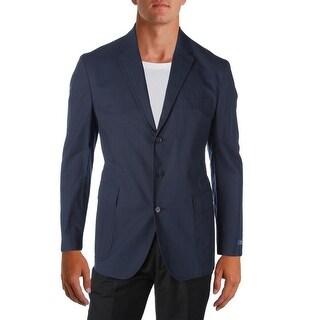 Polo Ralph Lauren Mens Seersucker Three-Button Blazer Lightweight Long Sleeves
