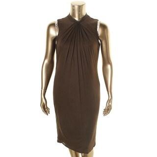 Lauren Ralph Lauren Womens Plus Casual Dress Jersey Knot