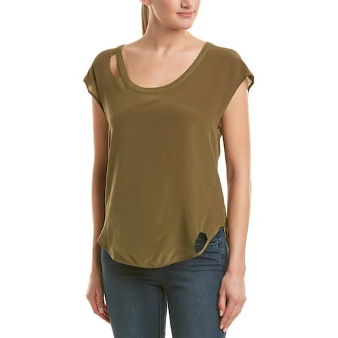 Chaser Cutout Silk Top