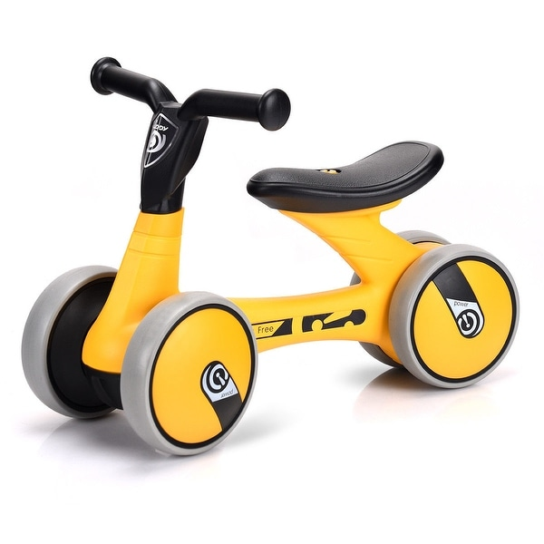 17be17e99c3 Gymax 4 Wheels Kids Balance Bike Children Walker Toddler Toys Rides No-Pedal  Bicycle -