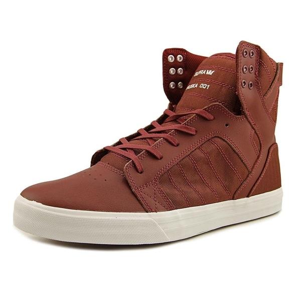 Supra Skytop Men Burgundy-White Sneakers Shoes