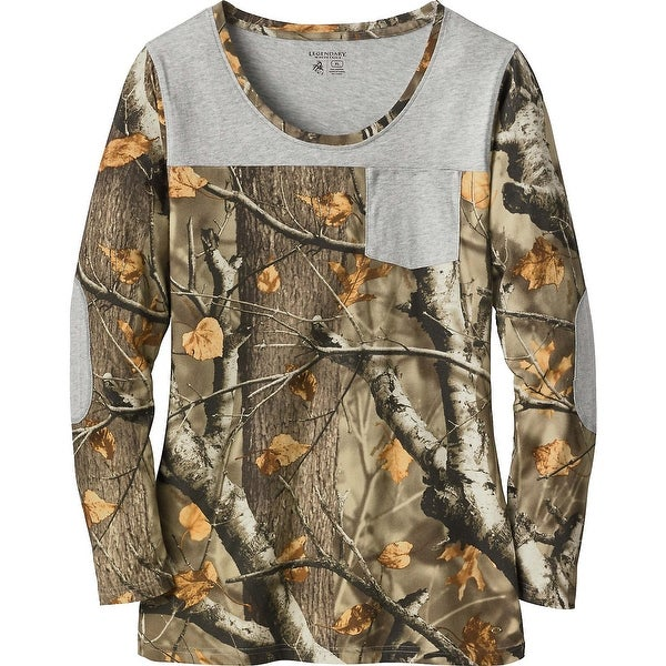 Legendary Whitetails Ladies Late Season Pocket Camo Tunic - big game field camo