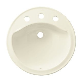 "Sterling 441908 Modesto 19"" Drop In Bathroom Sink With Three Holes Drilled And Overflow"