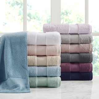 Link to Madison Park Signature Turkish Cotton 6 Piece Bath Towel Set Similar Items in Towels
