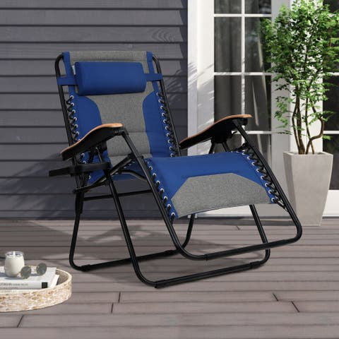 Sophia & William Padded Zero Gravity Chair Oversize Lounge Chair with Free Cup Holder