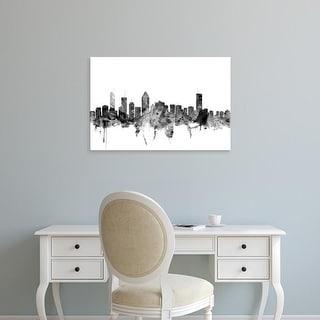 Easy Art Prints Michael Tompsett's 'Montreal Canada Skyline' Premium Canvas Art