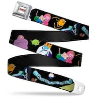 Adventure Time Logo White Full Color Adventure Time Scroll Characters6 Seatbelt Belt