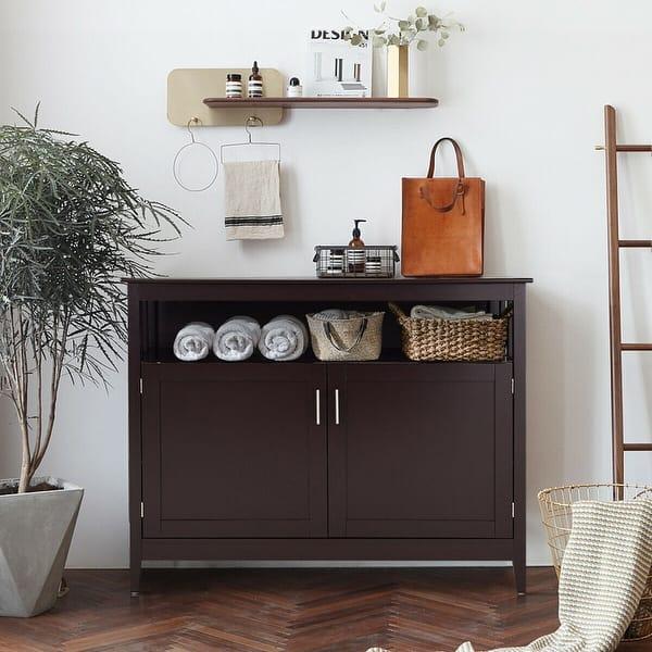 Shop Costway Modern Kitchen Storage Cabinet Buffet Server ...
