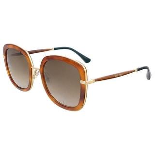 Jimmy Choo GLENN/S 0QAN Light Havana Glitter Square sunglasses