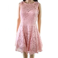Xscape Pink Women's Size 10 Floral Lace A-Line Sheath Dress