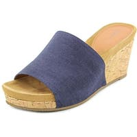 Style & Co. Womens Jackeyy Open Toe Wedge Pumps