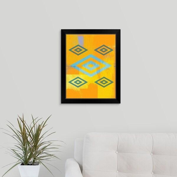 """Native American Spiritual Symbol"" Black Framed Print"