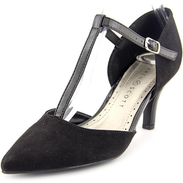 Karen Scott Griffin Women Pointed Toe Synthetic Black Heels