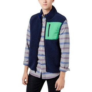 Tommy Hilfiger Mens Outerwear Vest Winter Sherpa