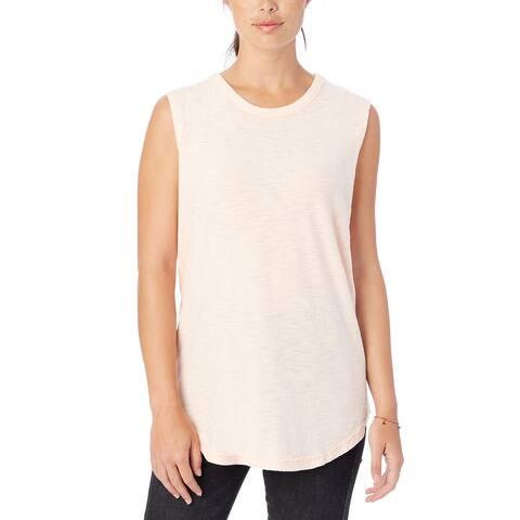 Alternative Apparel Shadow Wash Inside Out Sleeveless T-Shirt