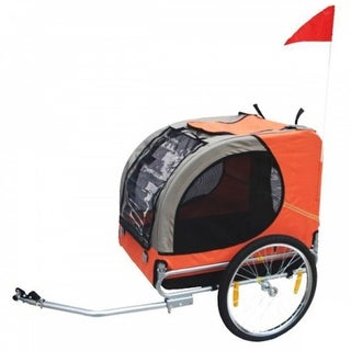 vidaXL Dog Bike Trailer Orange