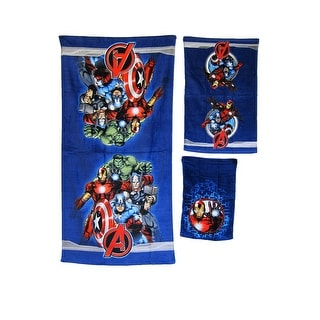 MARVEL KIDS BATHROOM BATH TOWEL 3PC SET CARTOONS CHARACTERS Avengers