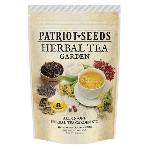 Patriot Seeds Herbal Tea Garden 8 Variety Heirloom Seed Pack Non-GMO