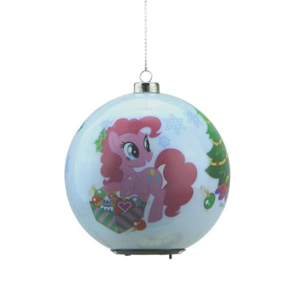"3.25"" Carlton Cards Heirloom Multi Color LED Lighted My Little Pony Christmas Ball Ornament"