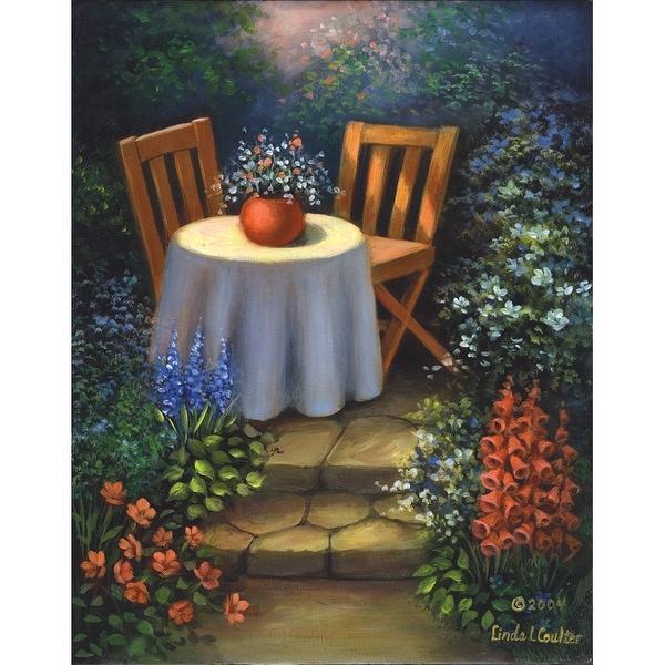 "Acrylic Paint Your Own Masterpiece Kit 11""X14""-Garden Table"