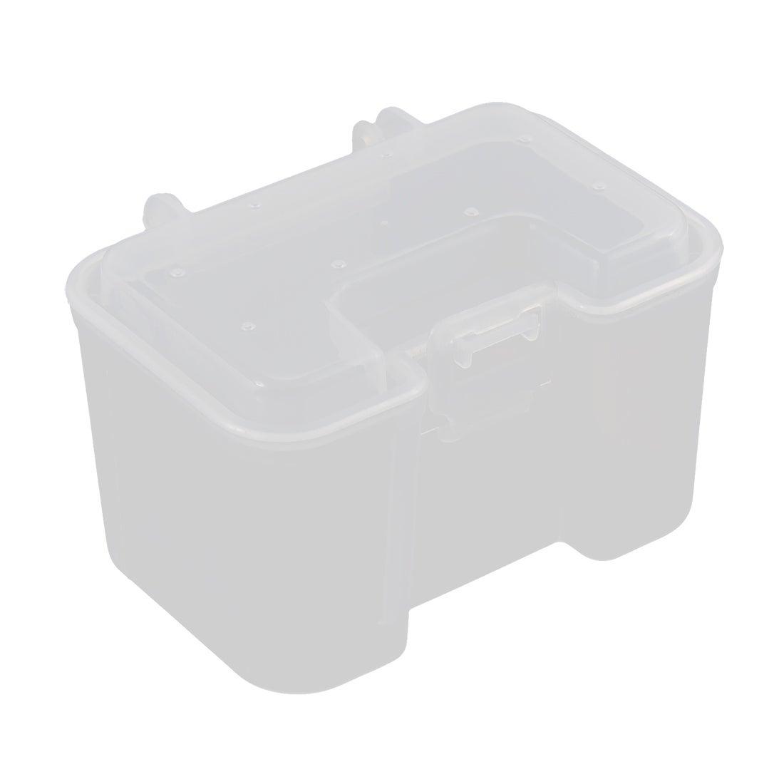 Unique Bargains Visible Plastic Clear Fishing Lure Bait Hooks Tackle Storage Box Case Container