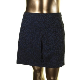 Tommy Hilfiger Womens Animal Print Jaquard Mini Skirt