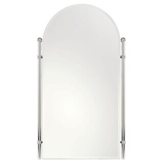"""Ginger 1141 Chelsea 20.4"""" Wall Mounted Portrait Mirror with Beveled Edge"""