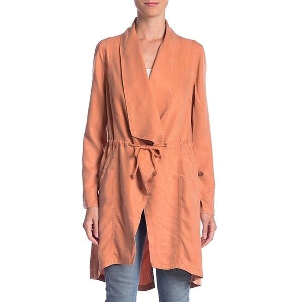 Max Jeans Women Jacket Orange Size Large L Draped Open-Front Drawstring. Opens flyout.