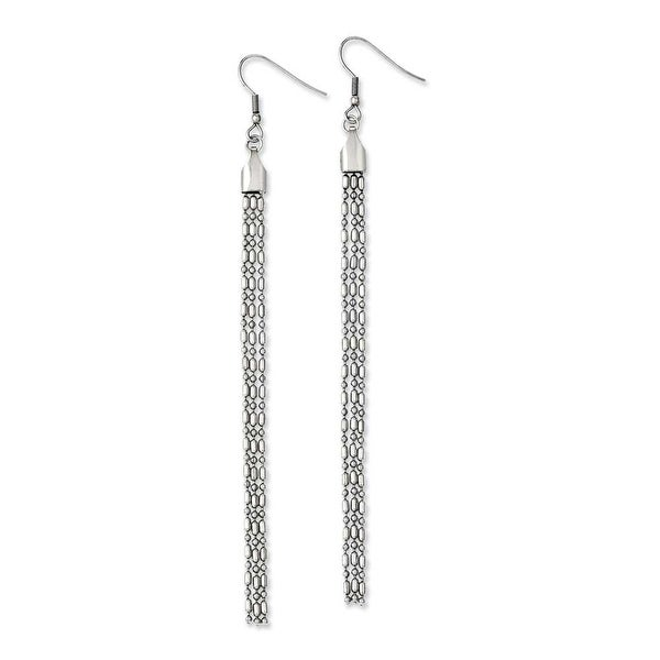 Chisel Stainless Steel Long Dangle Earrings