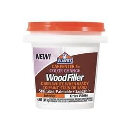 Elmer's 1/4Pt White Wood Filler|https://ak1.ostkcdn.com/images/products/is/images/direct/c6f66f80f6c3c26a63f3a776f87b884b6543e368/Elmer%27s-1-4Pt-White-Wood-Filler.jpg?impolicy=medium