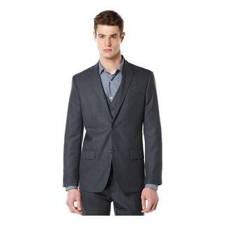 Perry Ellis Mens Big & Tall Two-Button Blazer Pattern Notch Lapel