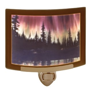 "Northern Lights Night Light - Porcelain - 5.5"" x 3.25"" - brown"