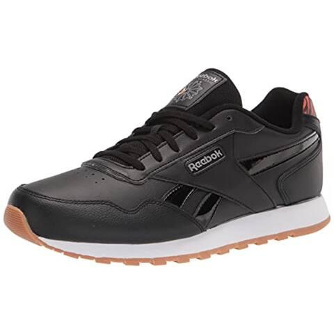 Reebok Women's Classic Harman Run Sneaker, Black/White/Gum