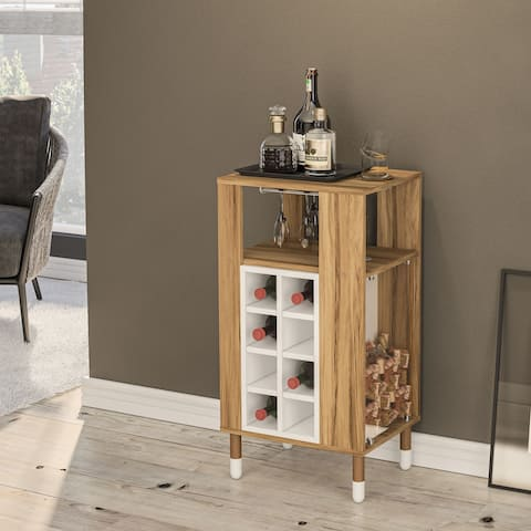 Boahaus Brighton Mini Bar, Wine Rack, 01 Shelf, 04 Feet