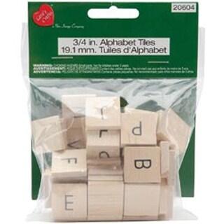 Natural - Alphabet Tiles A-Z 60/Pkg
