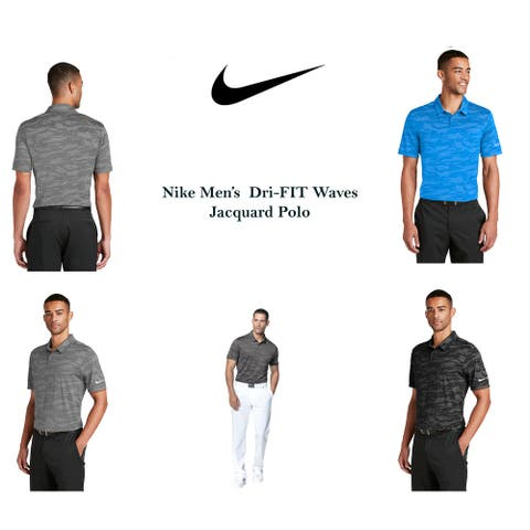 Nike Men's DRI-FIT Waves Jacquard Polo