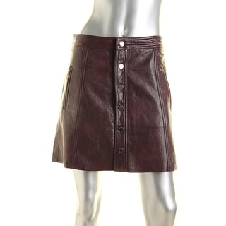 [BLANKNYC] Womens Faux Leather Lined A-Line Skirt