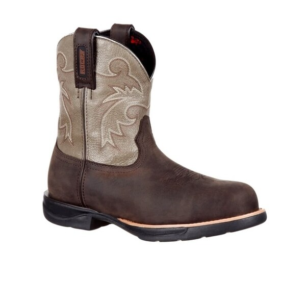 "Rocky Western Boots Womens Waterproof Composite Toe 8"" Brown"