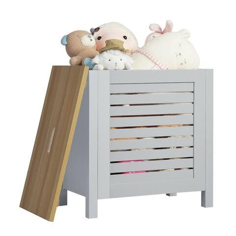 Costway Wooden Toy Storage Organizer Kids Toy Chest W/Lid for