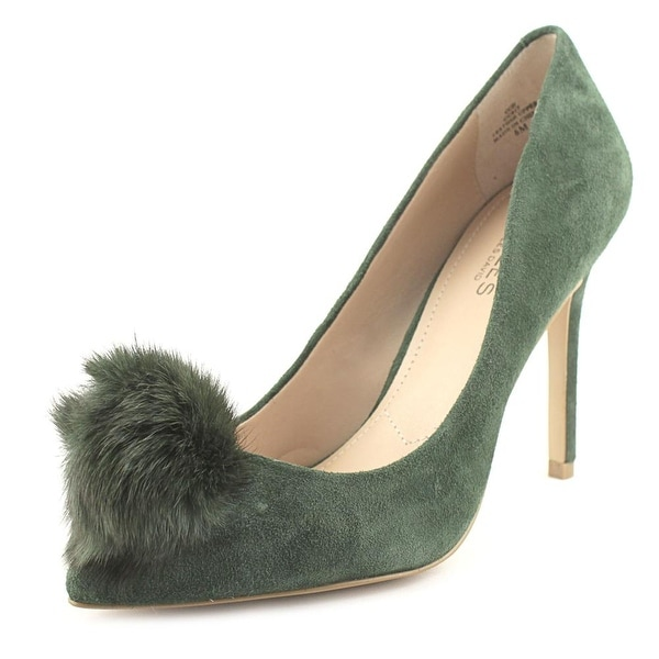 Charles By Charles David Pixie Women Pointed Toe Suede Green Heels